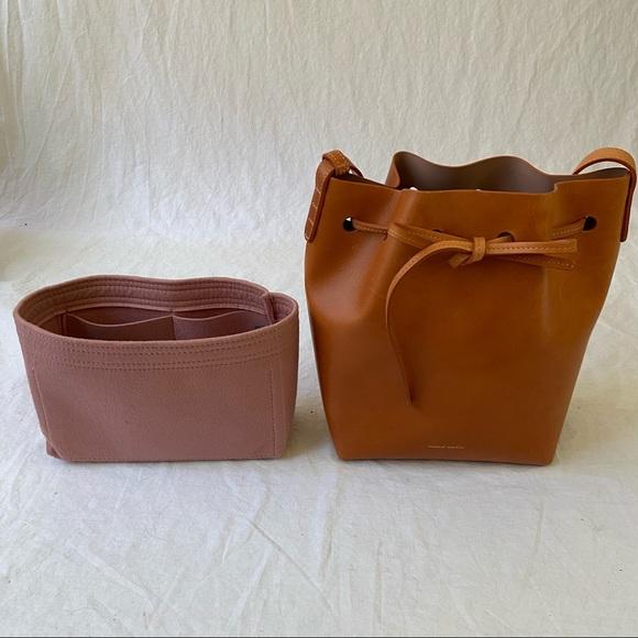 Mansur Gavriel Mini bucket bag Camello + Samorga